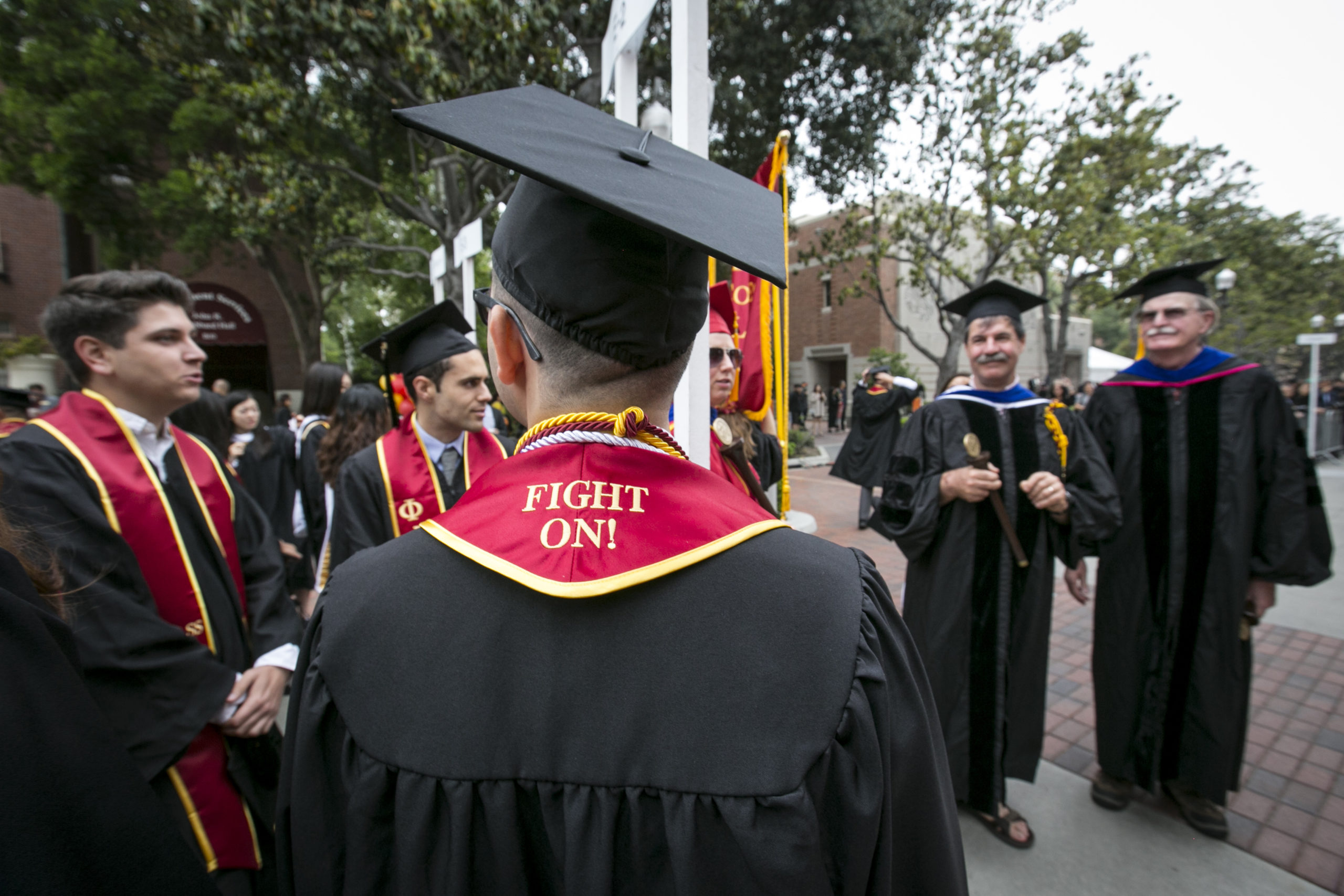 USC student with a Fight On Sash